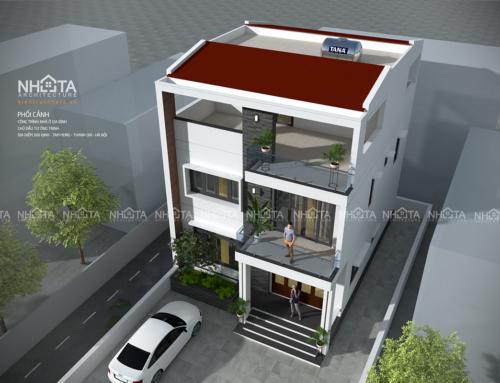Nhà phố hiện đại – kt:8*10m -KT20011