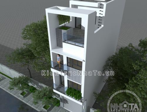 Mẫu KT20017 – Nhà Lô 4.1m x 12.4m – Hiện Đại