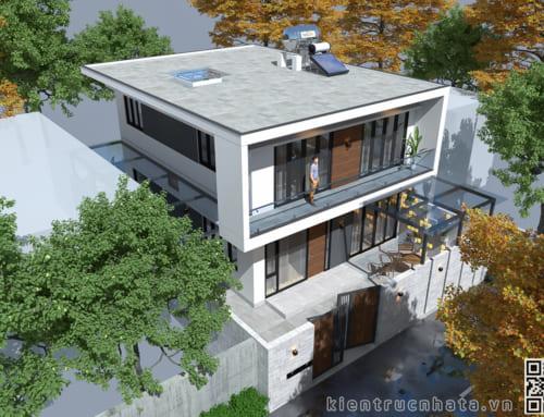 KT21007 – Biệt thự Hiện đại – 2 tầng – KT:8x10m